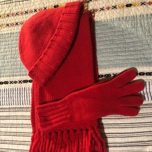 J crew hat, gloves and hat set